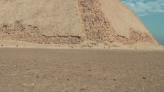 Pyramid, bent pyramid in Dashur, Egypt Stock Footage