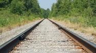 Train tracks. Stock Footage