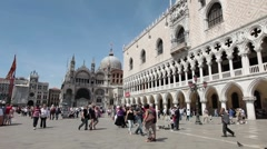 Venice St Marks square people P HD 1072 Stock Footage