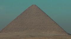 Pyramid, red pyramid Stock Footage