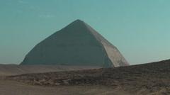 Pyramid, bent pyramid, Dashur, Egypt Stock Footage