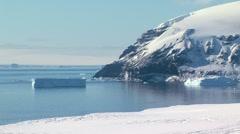 Panorama of antarctic mainland Stock Footage
