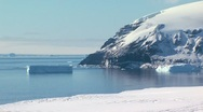 Stock Video Footage of panorama of antarctic mainland