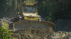 Bulldozer at work - stock footage