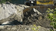 Bulldozer at work Stock Footage