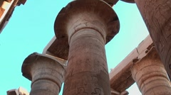 Karnak temple, column, Luxor, Egypt - stock footage