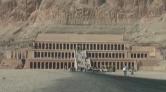 Hatschepsut temple - Luxor Stock Footage