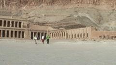Beautiful Hatschepsut temple in lower Egypt - Luxor, Egypt Stock Footage