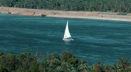 Stock Video Footage of Nile river, Sailing ship cruise, felucca, Egypt, Aswan
