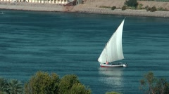 Nile felucca, Egypt Aswan Stock Footage