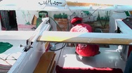 Nile felucca Stock Footage