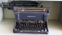 UNDERWOOD TYPEWRITER Stock Footage