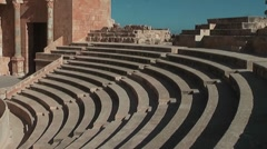 Ancient theater, Roman city, Sabratha, Libya Stock Footage