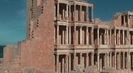 Ancient site - Sabratha Stock Footage