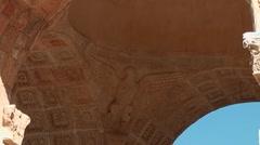 Roman settlement - Leptis Magna Stock Footage