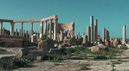 Ancient site - Sabratha Stock Footage