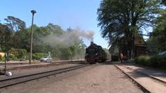 Steam locomotive, railroad, Germany Stock Footage