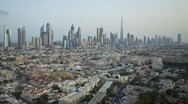 Natural and Illuminated light of Town homes and Skyscrapers, Dubai, UAE, T/Lapse Stock Footage