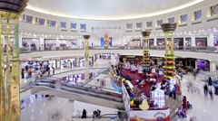 Interior Deira City Centre Shopping Mall, Dubai, UAE, T/Lapse Stock Footage