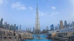 WA The Burj Khalifa, Futuristic Modern Design Structure, Dubai, T/Lapse - stock footage