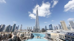 Burj Khalifa Dubai and Mall a Futuristic Modern Design, UAE, T/Lapse Stock Footage