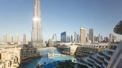 The Burj Khalifa Dubai a Futuristic Modern Design Structure, UAE, T/Lapse - stock footage