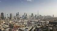 Time Lapse Landscape view of modern City Skyscrapers in Dubai, UAE Stock Footage