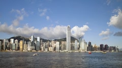 Time Lapse Hong Kong Victoria Harbour, Hong Kong, China, Asia - stock footage