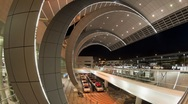 Dubai International Airport with a Futuristic Modern Design, Dubai, UAE, T/Lapse Stock Footage