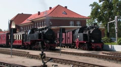 Steam locomotive, Germany Stock Footage