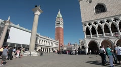 Venice St Marks Square tourists P HD 1025 Stock Footage