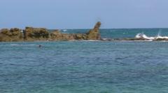 The Dog Rock reef in Condado Beach-12sPjpg Stock Footage