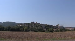 Medieval town, France Stock Footage