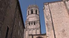 Medieval town, mediterranean town Stock Footage