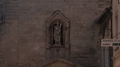 Old church at medieval town at Rhone valley, France Stock Footage