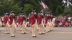 Fife and Drum Corps - stock footage