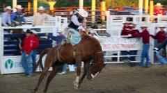 Saddle Bronc Rodeo Ride - stock footage