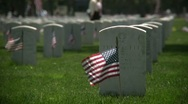 Stock Video Footage of Veteran's Cemetary