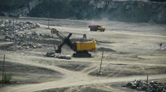 Coal mining in an open pit - stock footage