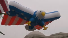 Red, White, and Blue Eagle Stock Footage