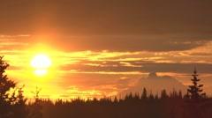 Mt. Redoubt Volcano Sunset Alaska Timelapse - stock footage