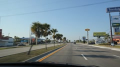 Driving through town in Florida. Stock Footage