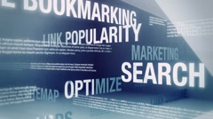 SEO/Internet Marketing Related Words Loop HD Stock Footage