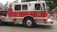 Parade Firetrucks Stock Footage