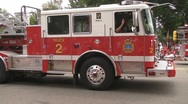 Stock Video Footage of Parade Firetrucks