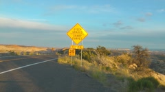 Scenic Byway, Utah, USA (timelapse) Stock Footage