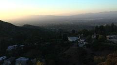 san fernado valley hazy smog 2 - stock footage