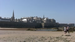 France - Brittany - Saint Malo Stock Footage