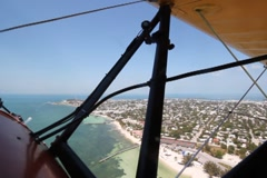 Biplane over Key West. SD. Stock Footage