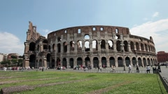 Rome Colosseum tourists Italy Europe P HD 0505 Stock Footage